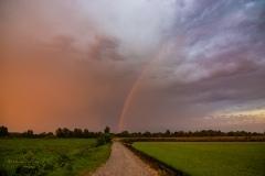 20 Agosto 2019 arcobaleno nei pressi di Livorno Ferraris VC near Turin Italy Storm Chaser Storm Wind