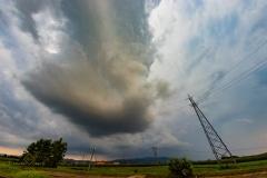Amazing HP supercell 11 Agosto 2019 - incredibile supercella HP intercettata nei pressi di - Valle Lomellina Italy Storm Chaser Storm Wind