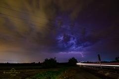 Lightning severe thunderstorm 26 luglio 2019 Chivasso near Turin Italy Storm Chaser Storm Wind
