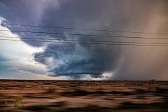 March 13 2020 Tornado warned severe thunderstorm supercell near Pecos Texas Tornado Tour StormWind