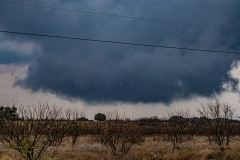 March 18 2020 severe thunderstorm supercell near Cross Plains Texas Tornado Tour StormWind