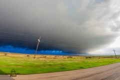 March 19 2020 severe thunderstorm supercell near Davidson Oklahoma Tornado Tour StormWind