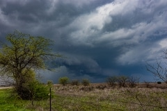 March 19 2020 severe thunderstorm supercell near Cresson Texas Tornado Tour StormWind
