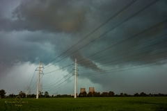 Storm and shelf cloud 27 luglio 2019 Crescentino near Turin Italy Storm Chaser Storm Wind