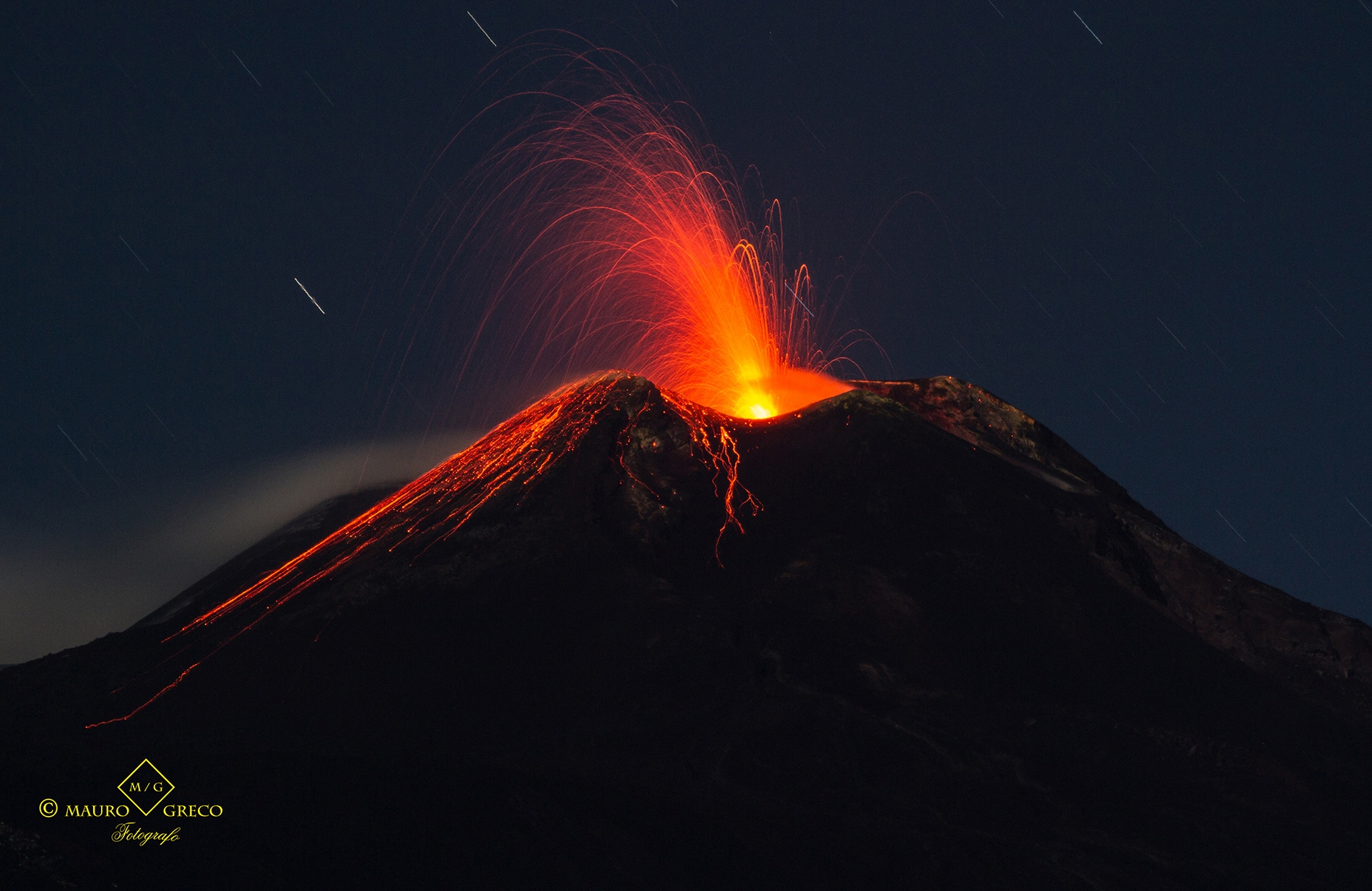 "Strombolian activity of the volcano ""Etna"" in Sicily, Italy"